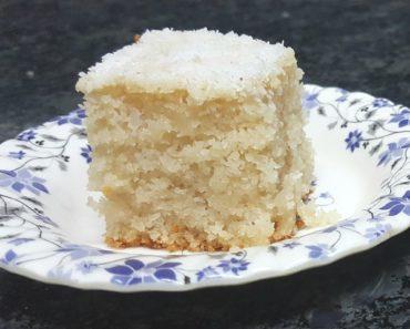 eggless sooji coconut cake