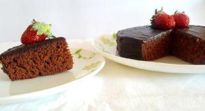 eggless whole wheat chocolate cake