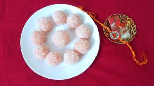 ROSE FLAVOURED COCONUT LADOO