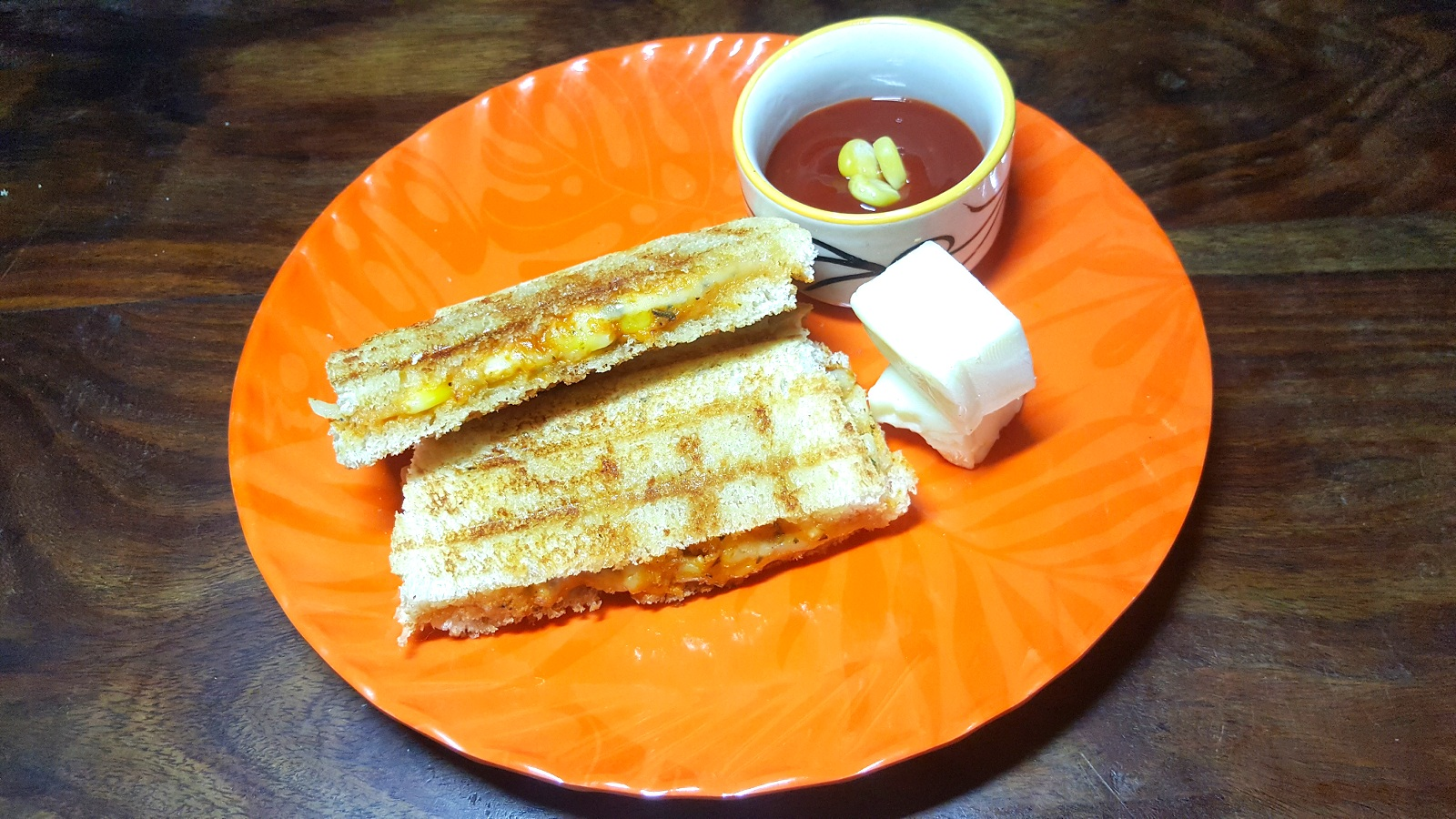 Cheese Corn Grilled Sandwich