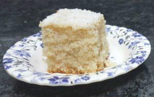 EGGLESS RAVA COCONUT CAKE