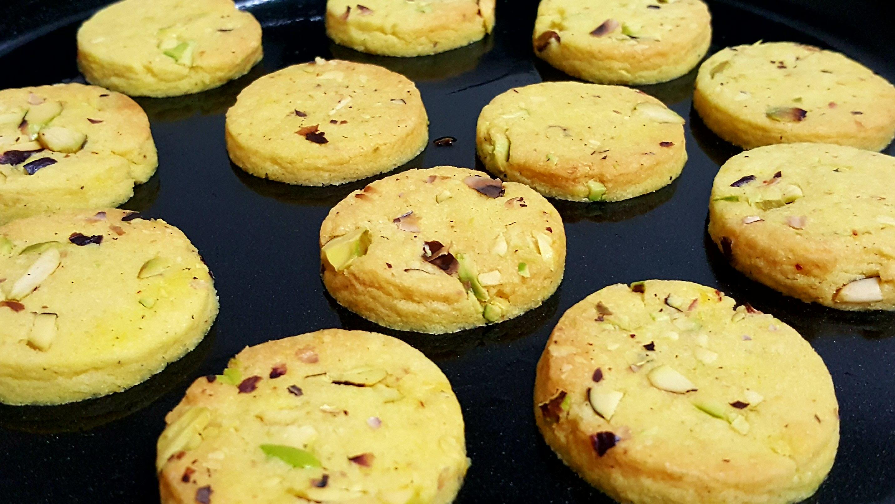 eggless saffron cookies