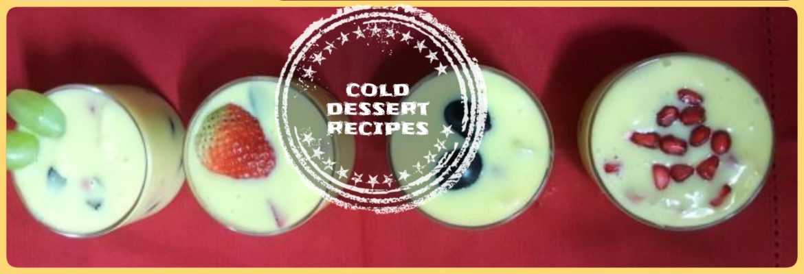 cold dessert recipes