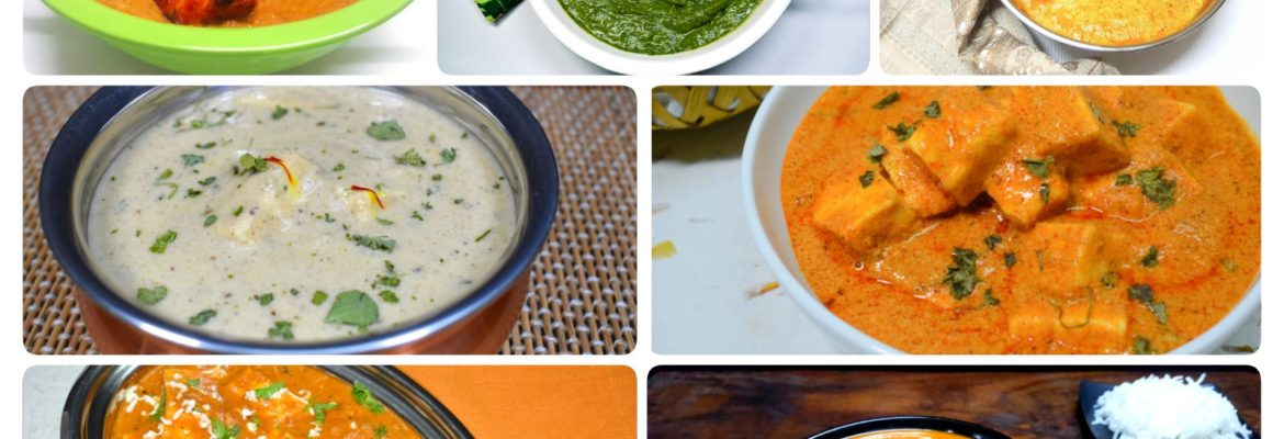Paneer Curries Recipes