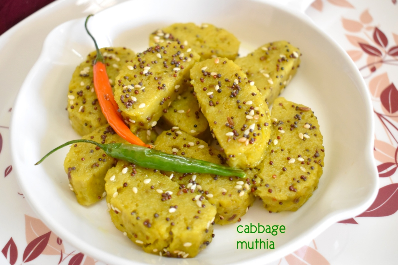 cabbage muthia recipe