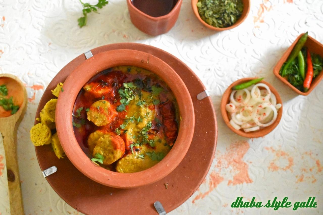 Dhaba Style Rajasthani Gatte