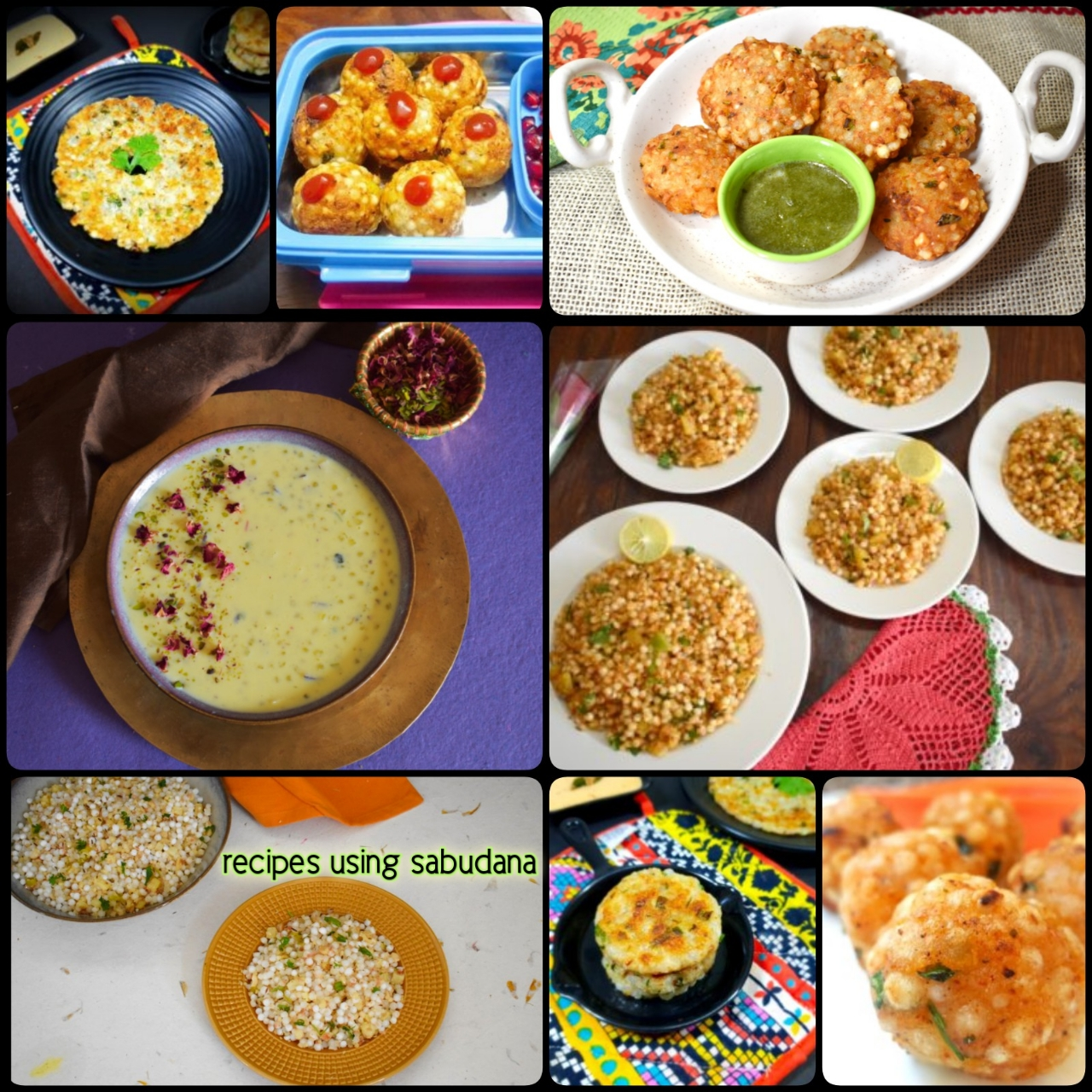Recipes using Sabudana