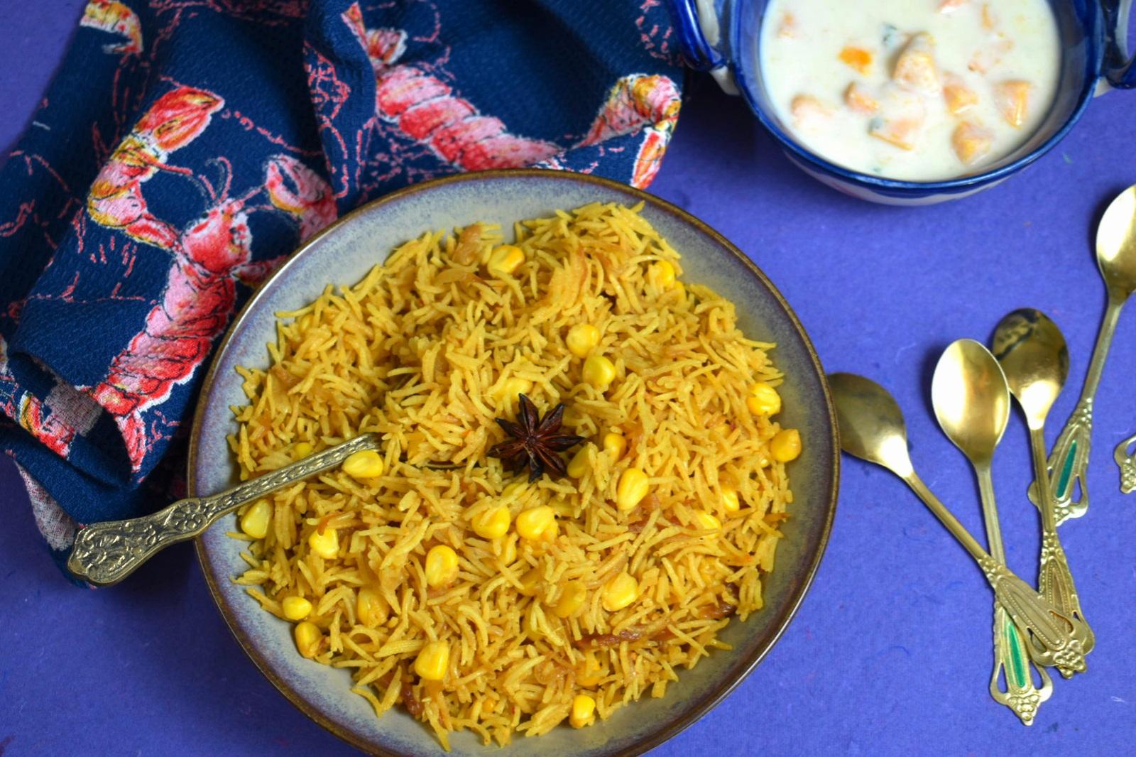 corn pulao recipe