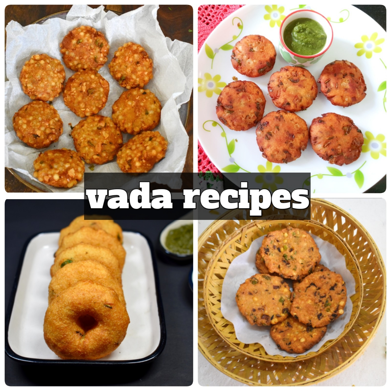 collection of tasty vada recipes