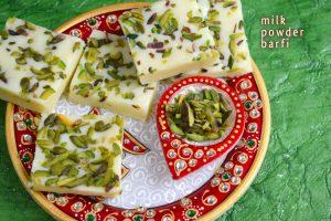 milk powder barfi recipe