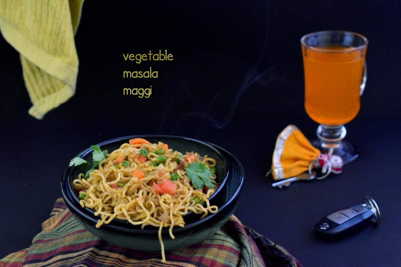vegetable masala maggi recipe