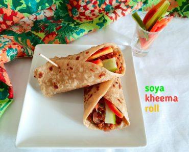 soya kheema rolls