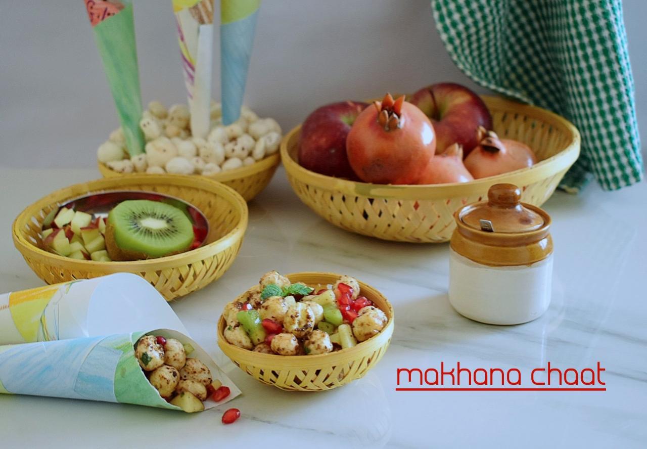 makhana chaat recipe