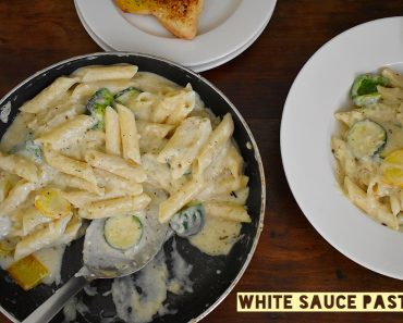 White sauce pasta with vegetables