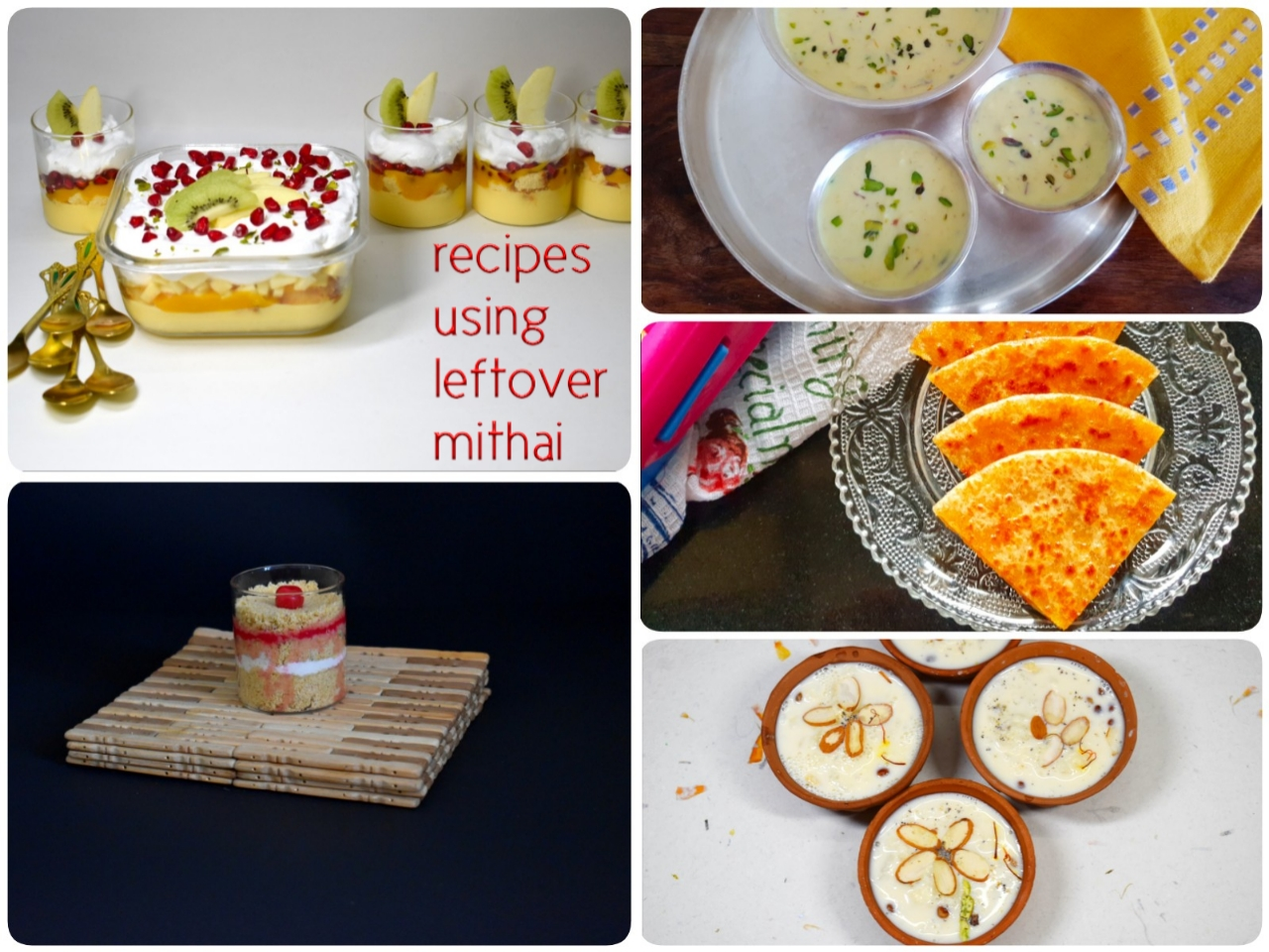 recipes using leftover mithai