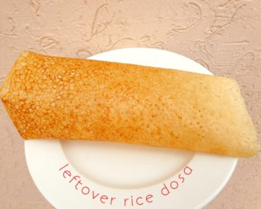 leftover rice dosa