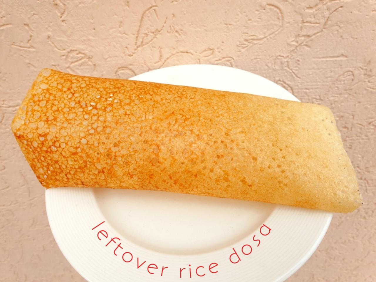 leftover rice dosa