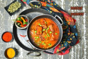 matar paneer without onion and garlic