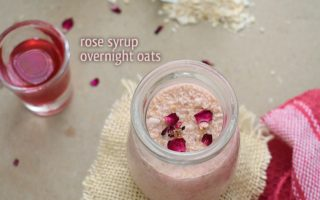 rose syrup overnight oats