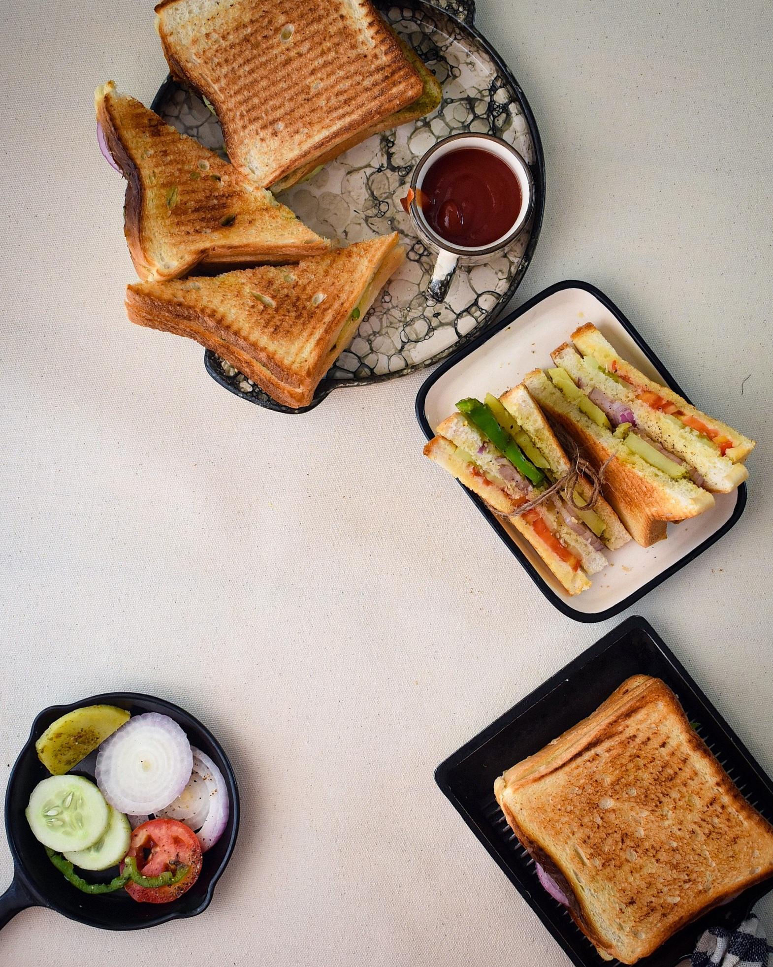 bombay grilled sandwich