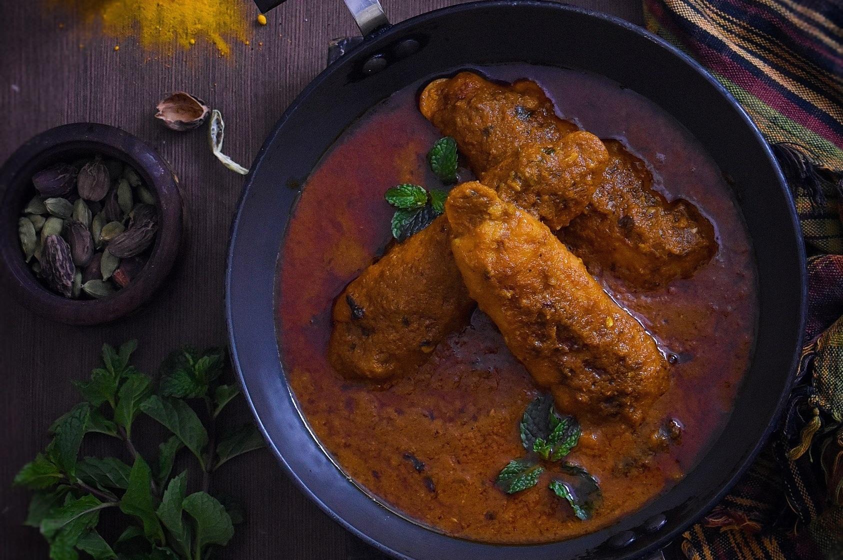 soya chaap curry
